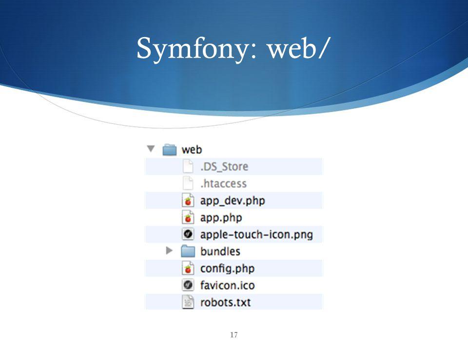 Symfony: web/