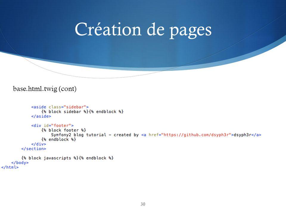 Création de pages base.html.twig (cont)