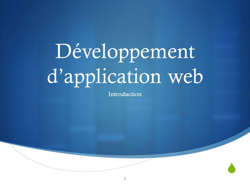 Développement d'application web