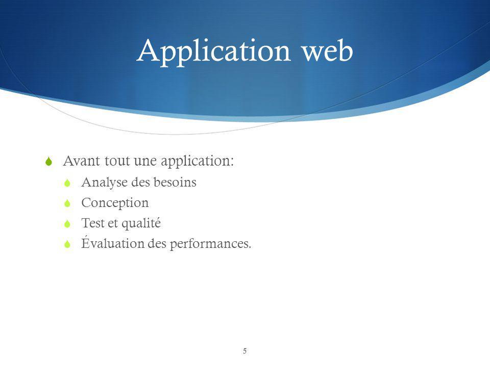 Application web Avant tout une application: Analyse des besoins