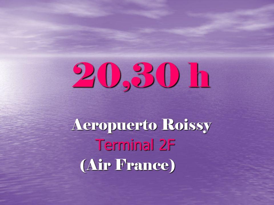 20,30 h Aeropuerto Roissy Terminal 2F (Air France)