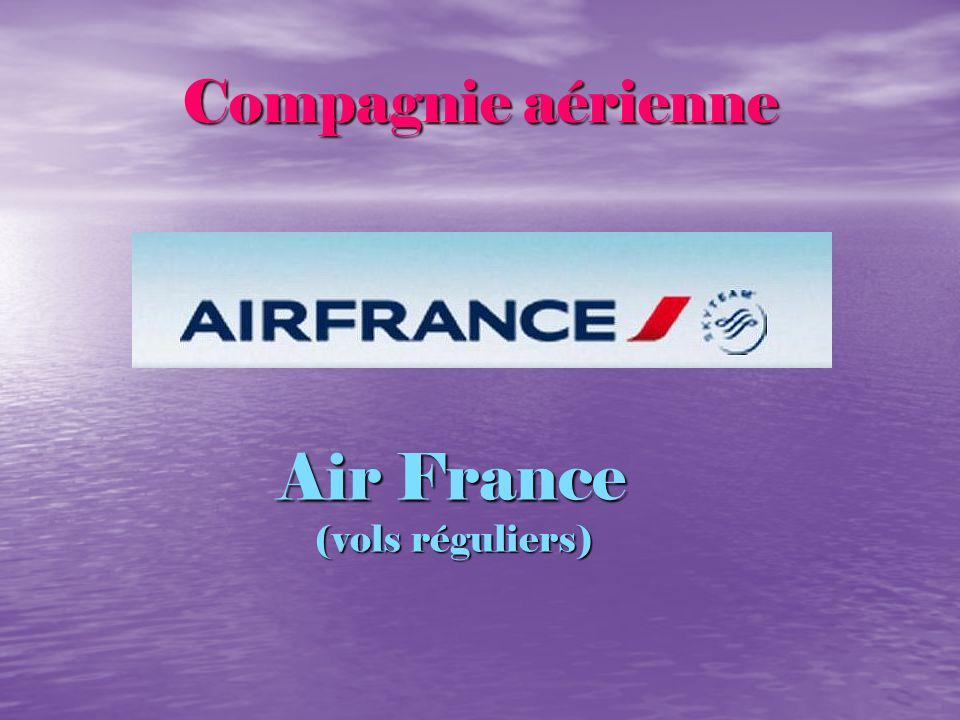 Air France (vols réguliers)