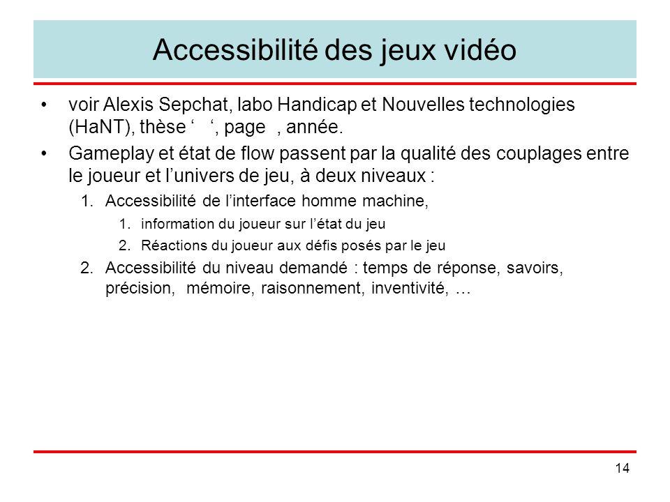 Accessibilité des jeux vidéo