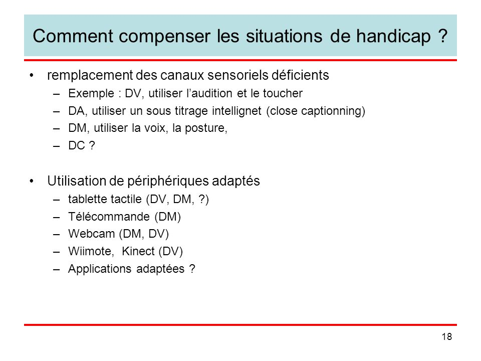 Comment compenser les situations de handicap