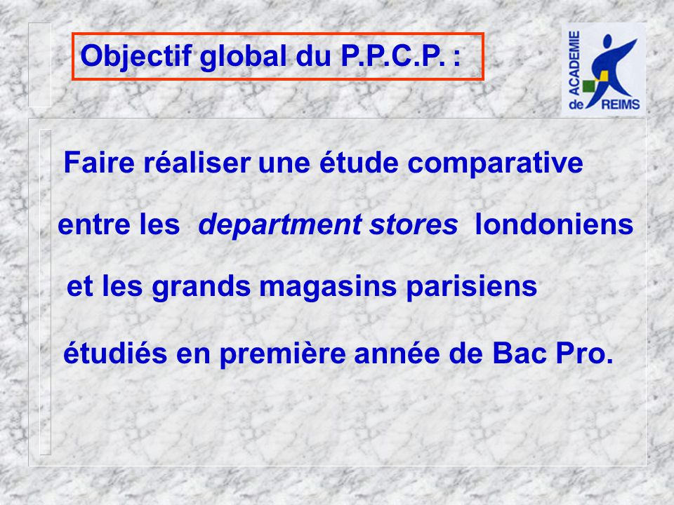 et les grands magasins parisiens