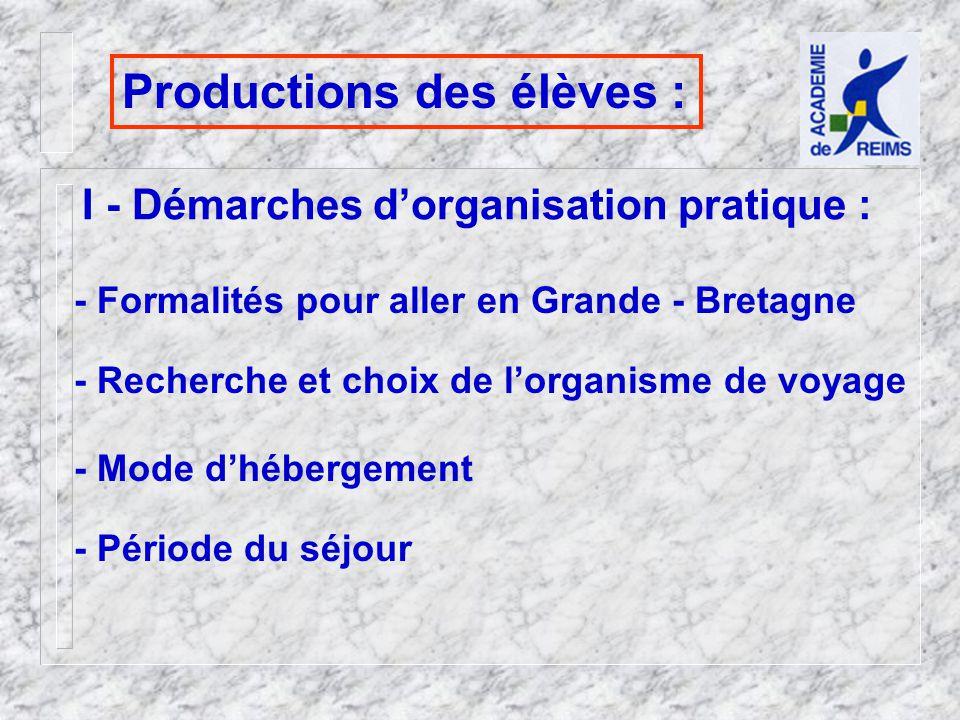 Productions des élèves :