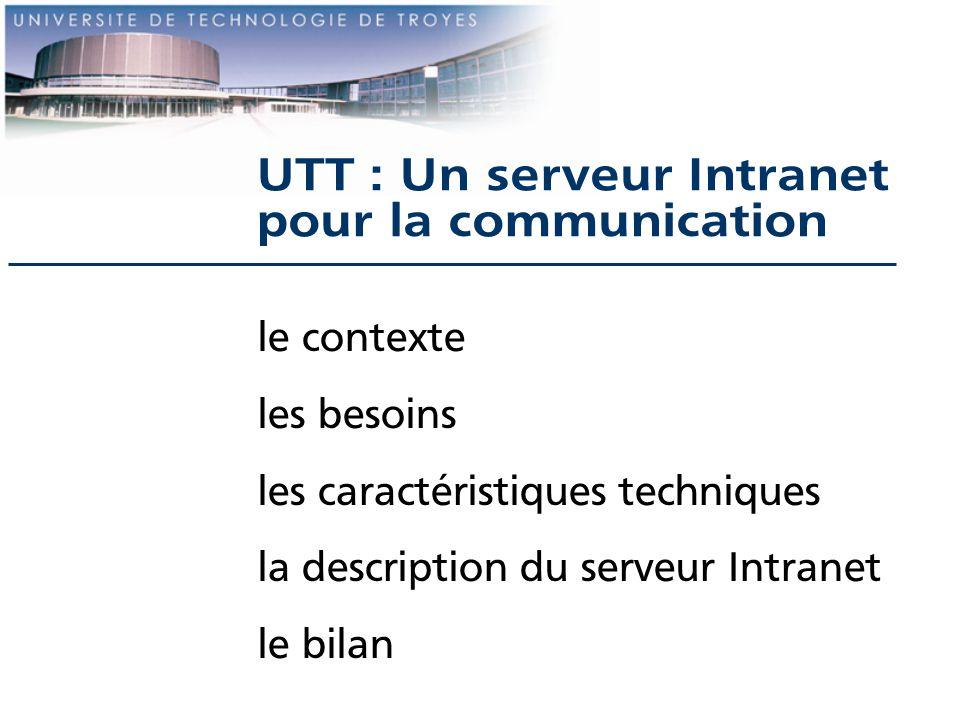 UTT : Un serveur Intranet pour la communication