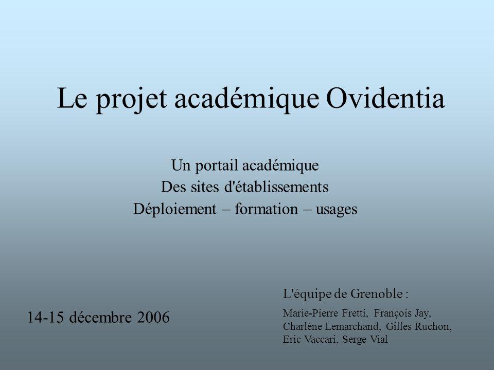 Le projet académique Ovidentia