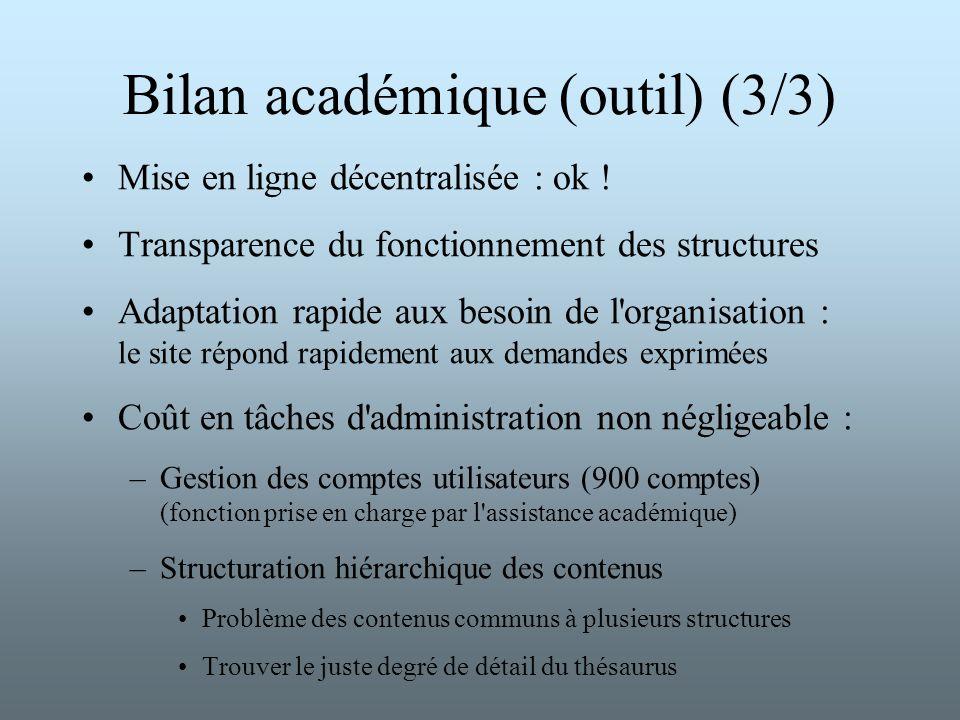 Bilan académique (outil) (3/3)