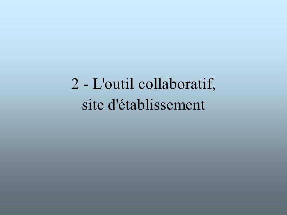 2 - L outil collaboratif, site d établissement