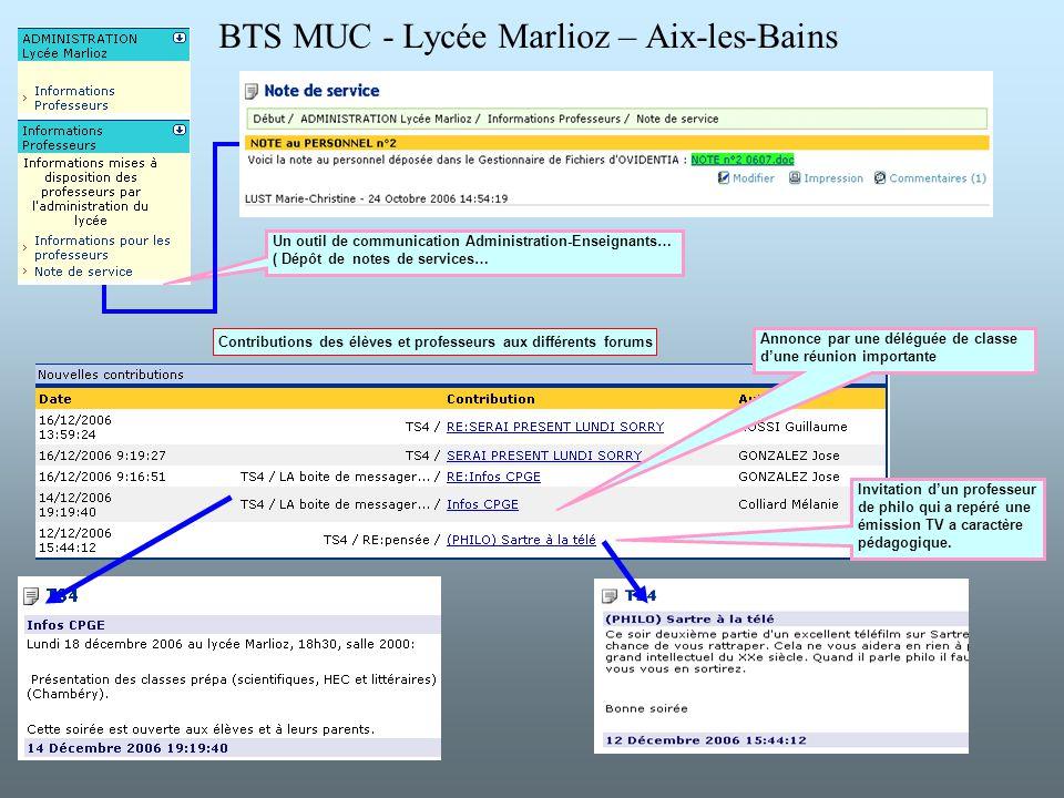 BTS MUC - Lycée Marlioz – Aix-les-Bains