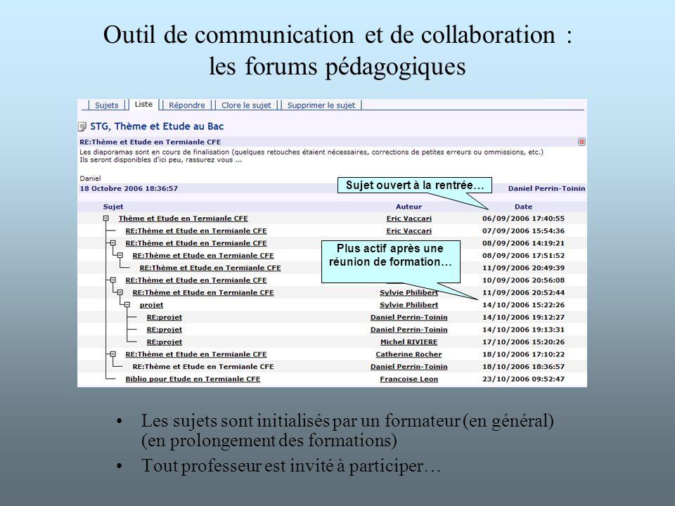 Outil de communication et de collaboration : les forums pédagogiques