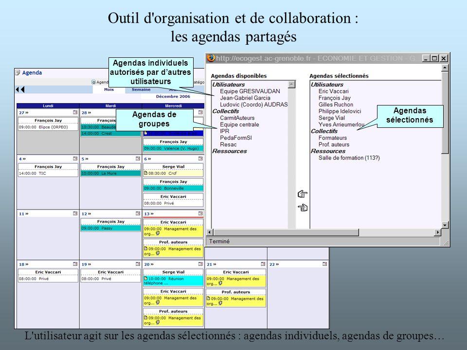 Outil d organisation et de collaboration : les agendas partagés