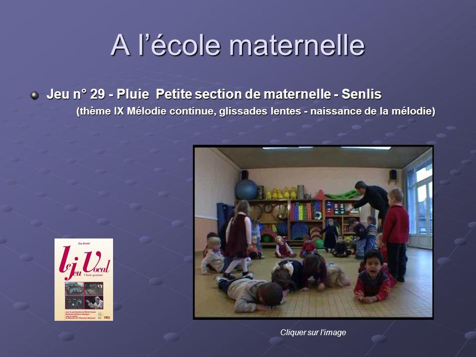 A l'école maternelle Jeu n° 29 - Pluie Petite section de maternelle - Senlis.