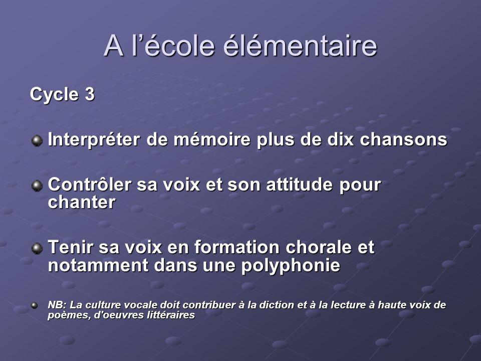 A l'école élémentaire Cycle 3