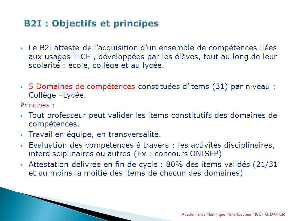 B2I : Objectifs et principes