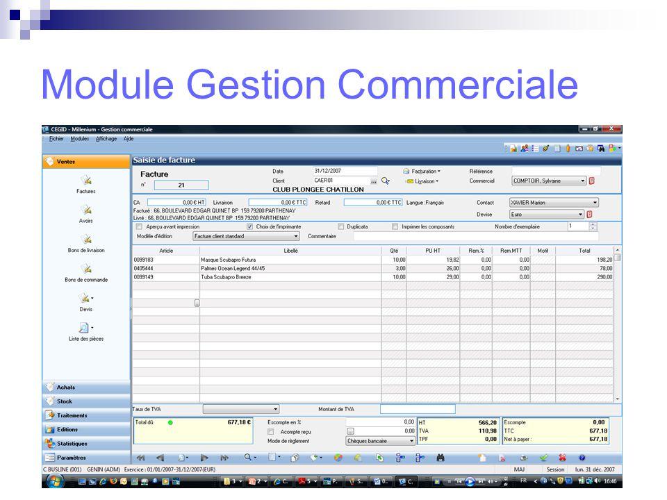 Module Gestion Commerciale
