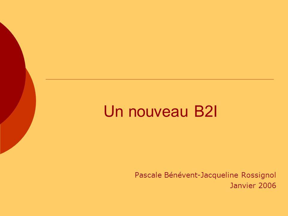 Pascale Bénévent-Jacqueline Rossignol Janvier 2006