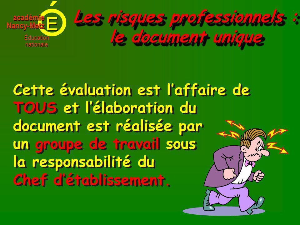 Les risques professionnels : le document unique