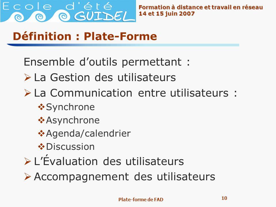 Définition : Plate-Forme