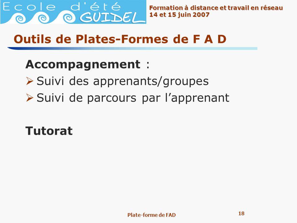 Outils de Plates-Formes de F A D