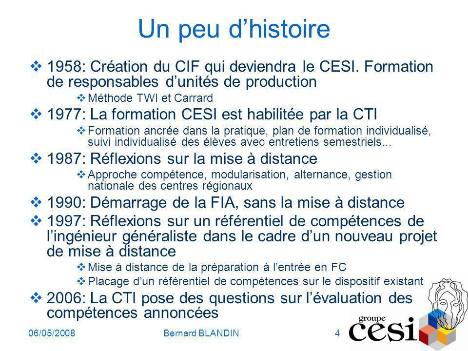 Un peu d'histoire 1958: Création du CIF qui deviendra le CESI. Formation de responsables d'unités de production.