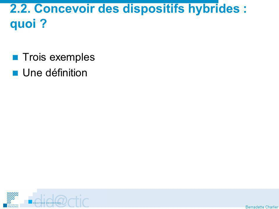 2.2. Concevoir des dispositifs hybrides : quoi