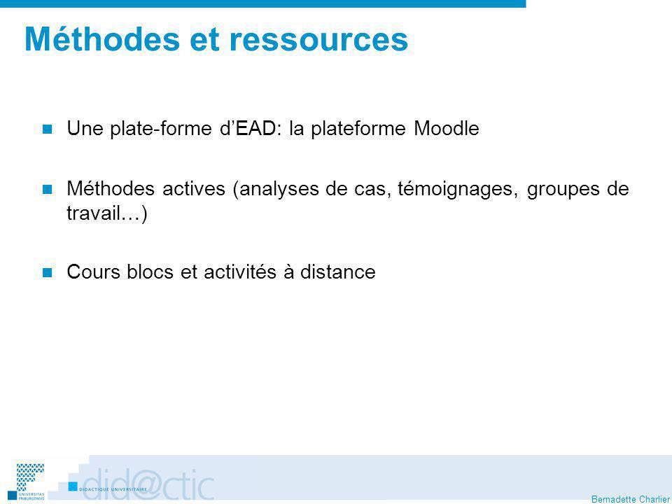 Méthodes et ressources