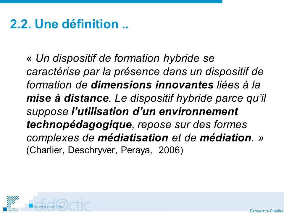 2.2. Une définition ..