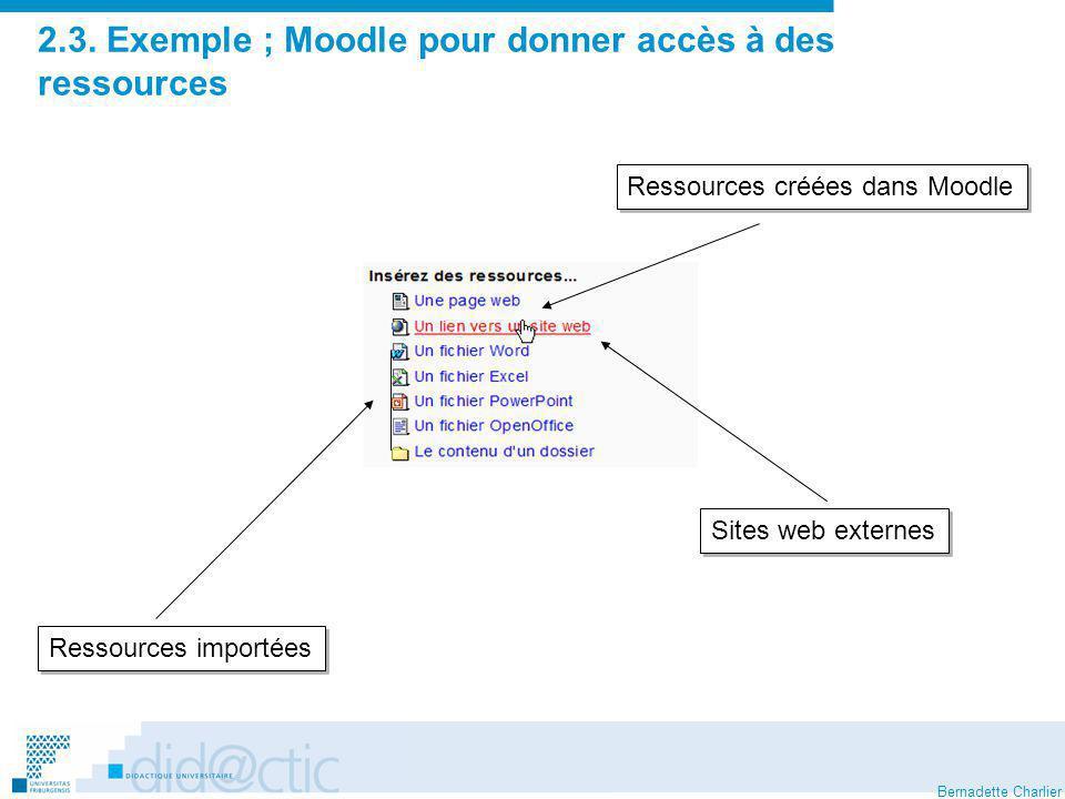2.3. Exemple ; Moodle pour donner accès à des ressources