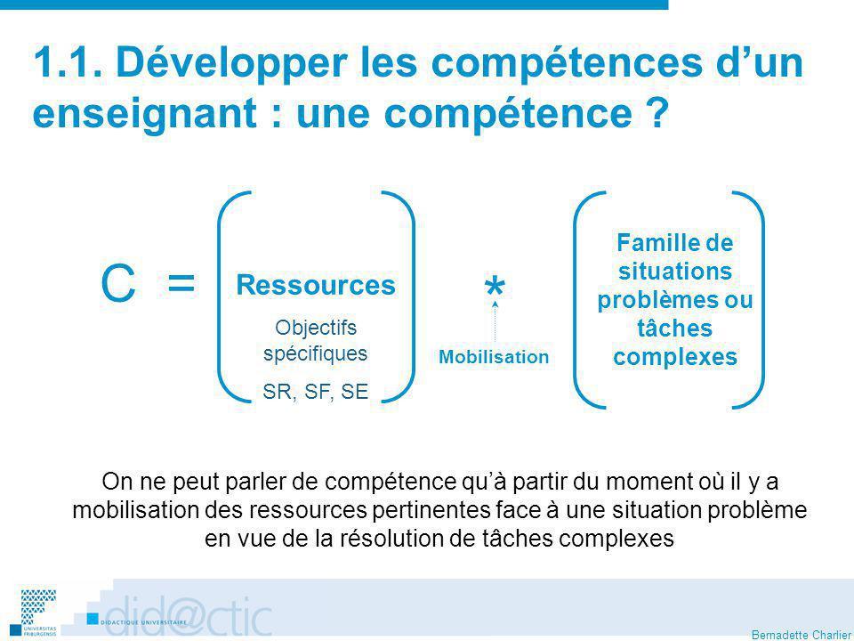 1.1. Développer les compétences d'un enseignant : une compétence