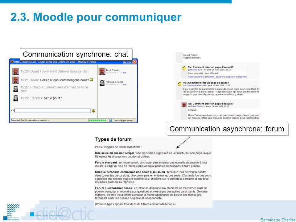 2.3. Moodle pour communiquer