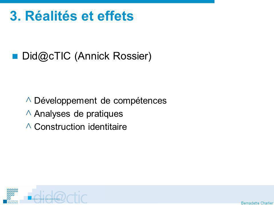 3. Réalités et effets Did@cTIC (Annick Rossier)