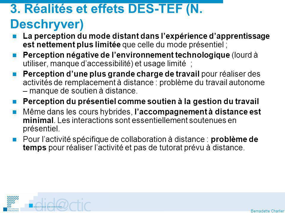 3. Réalités et effets DES-TEF (N. Deschryver)