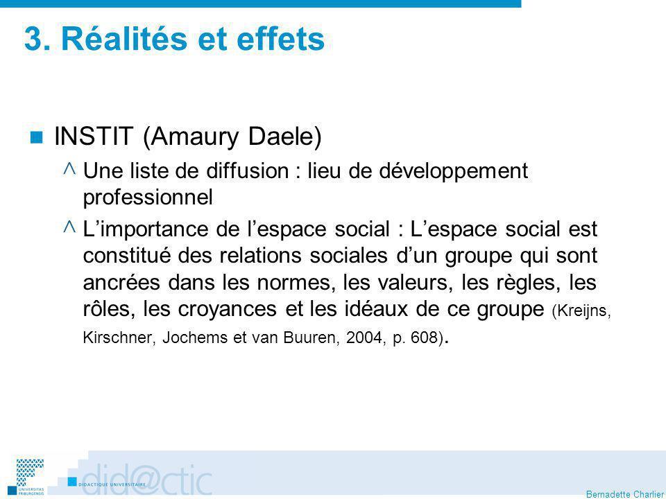 3. Réalités et effets INSTIT (Amaury Daele)
