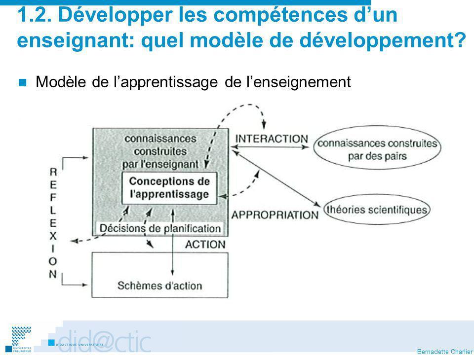 1.2. Développer les compétences d'un enseignant: quel modèle de développement
