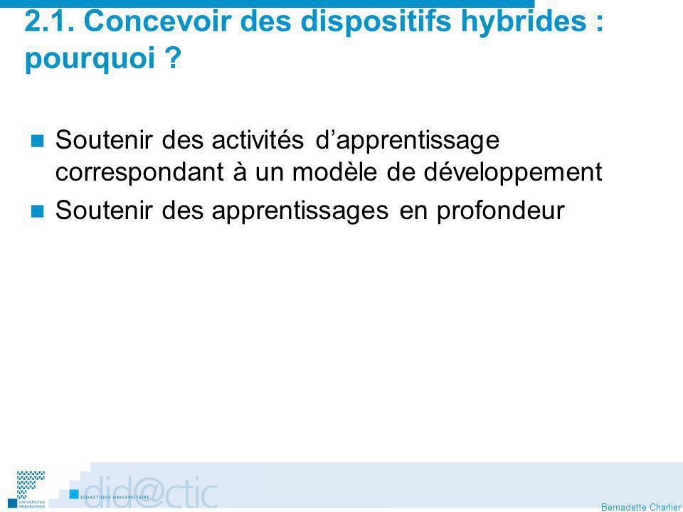2.1. Concevoir des dispositifs hybrides : pourquoi
