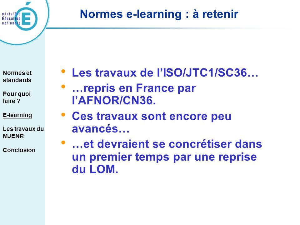 Normes e-learning : à retenir