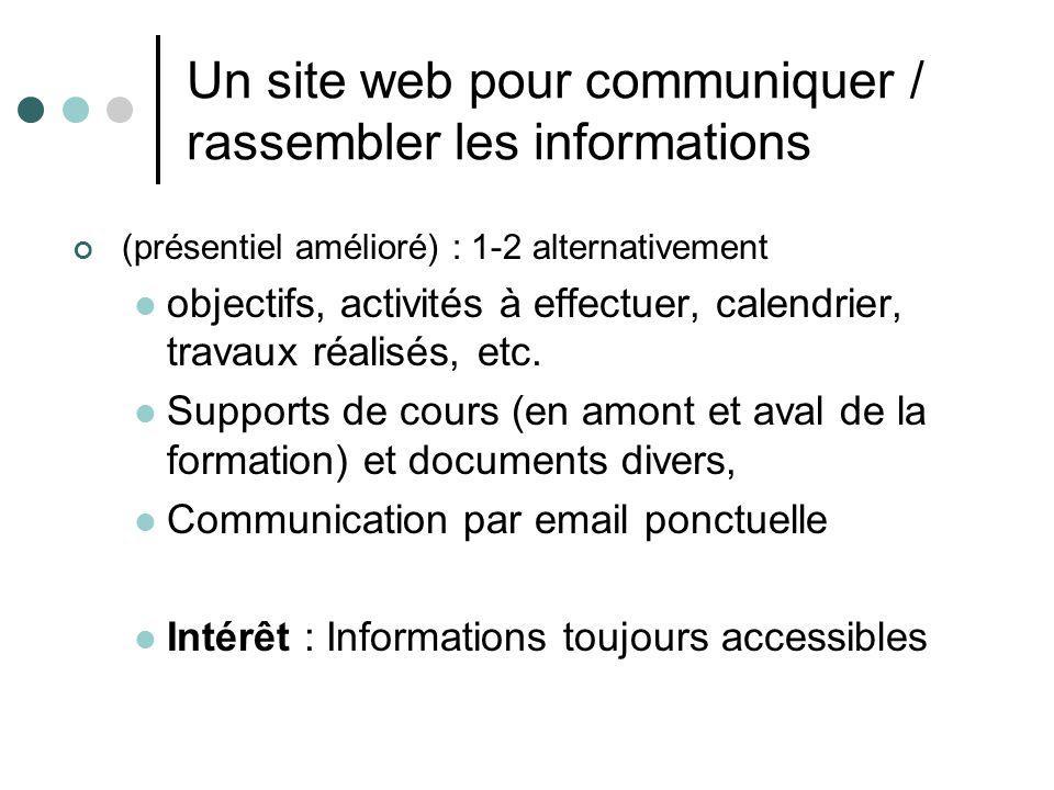 Un site web pour communiquer / rassembler les informations