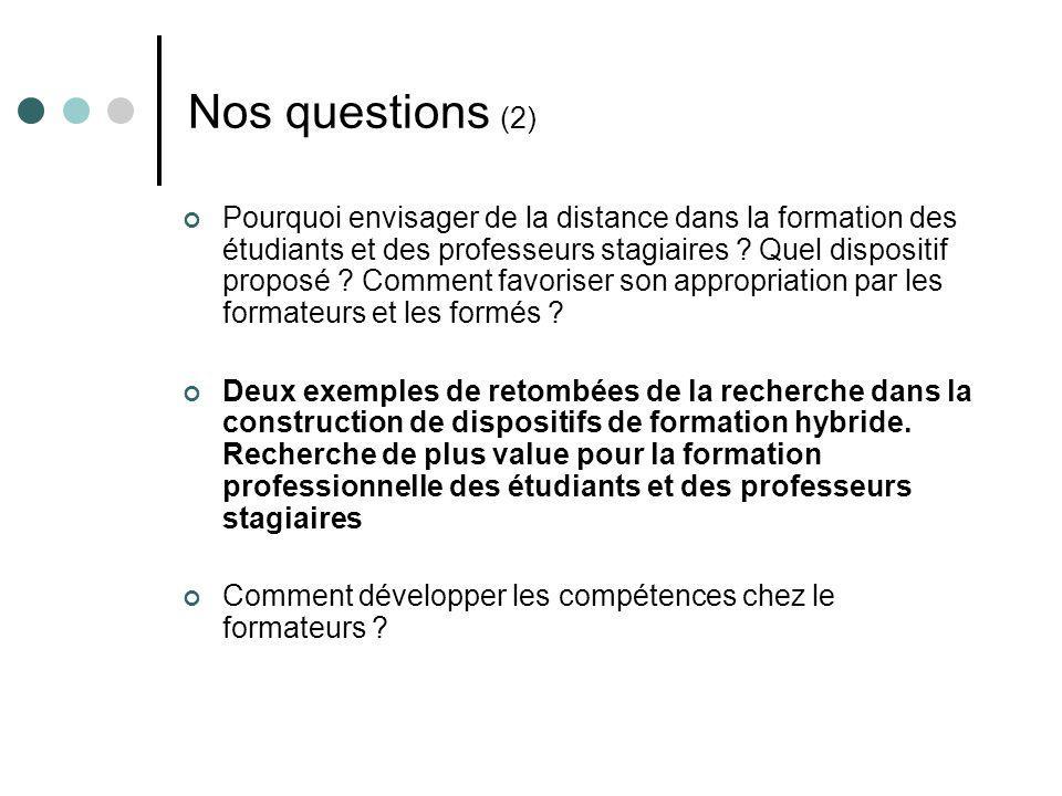 Nos questions (2)