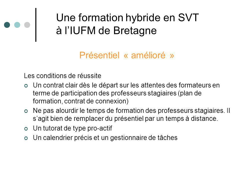 Une formation hybride en SVT à l'IUFM de Bretagne