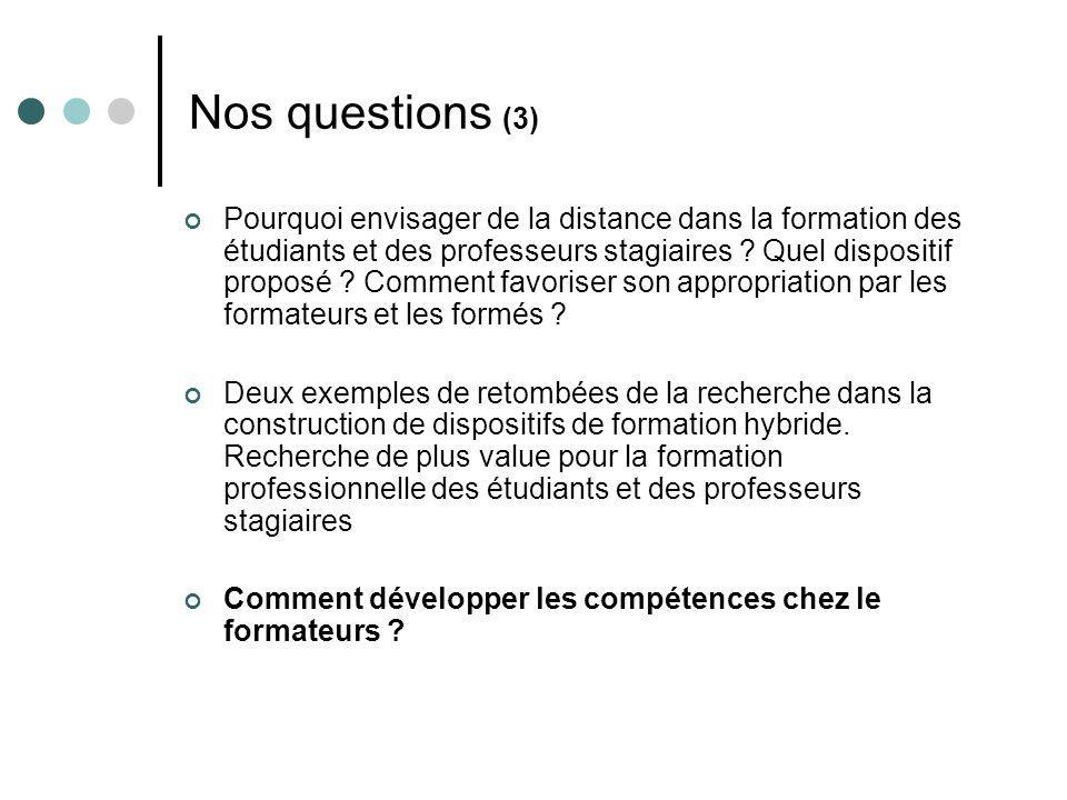 Nos questions (3)