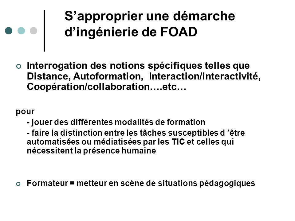 S'approprier une démarche d'ingénierie de FOAD
