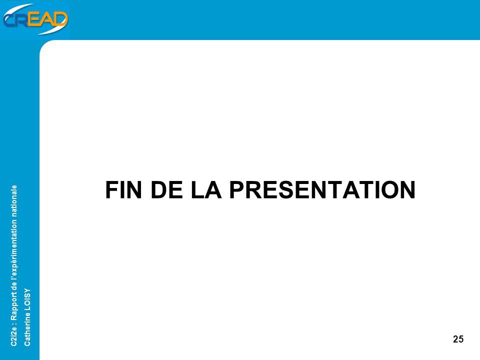 FIN DE LA PRESENTATION