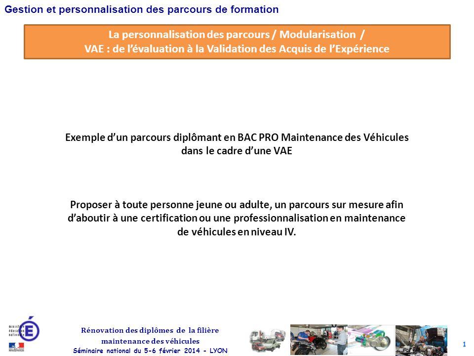 La personnalisation des parcours / Modularisation /
