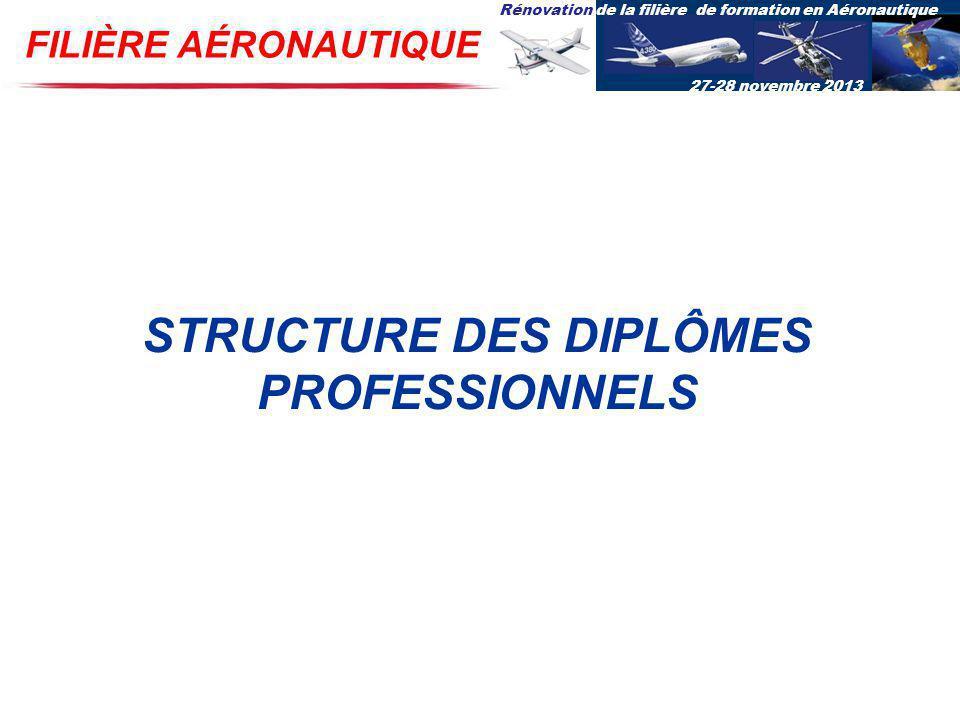 STRUCTURE DES DIPLÔMES PROFESSIONNELS