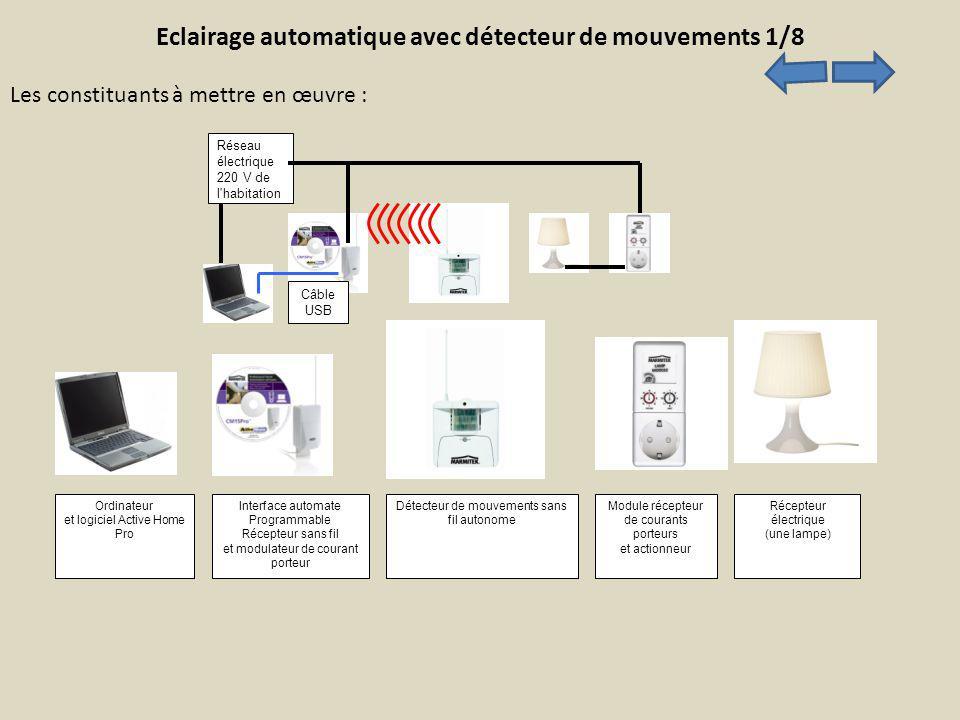 Eclairage automatique avec détecteur de mouvements 1/8