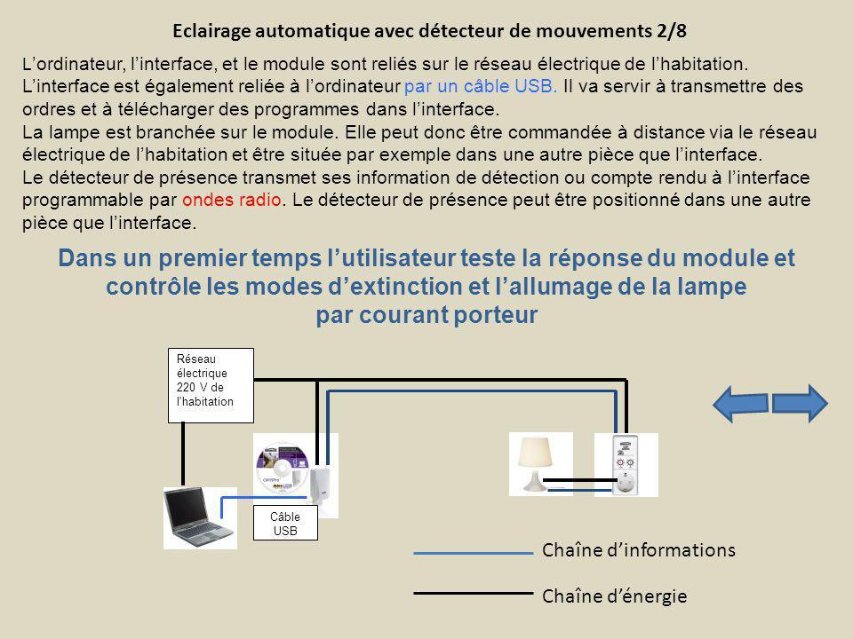 Eclairage automatique avec détecteur de mouvements 2/8