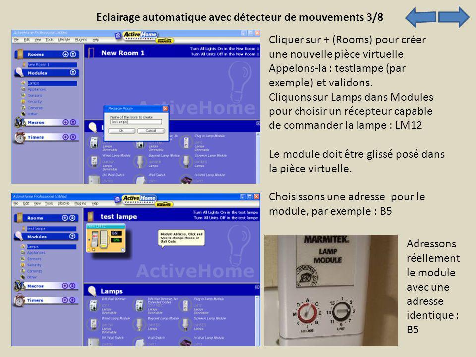 Eclairage automatique avec détecteur de mouvements 3/8