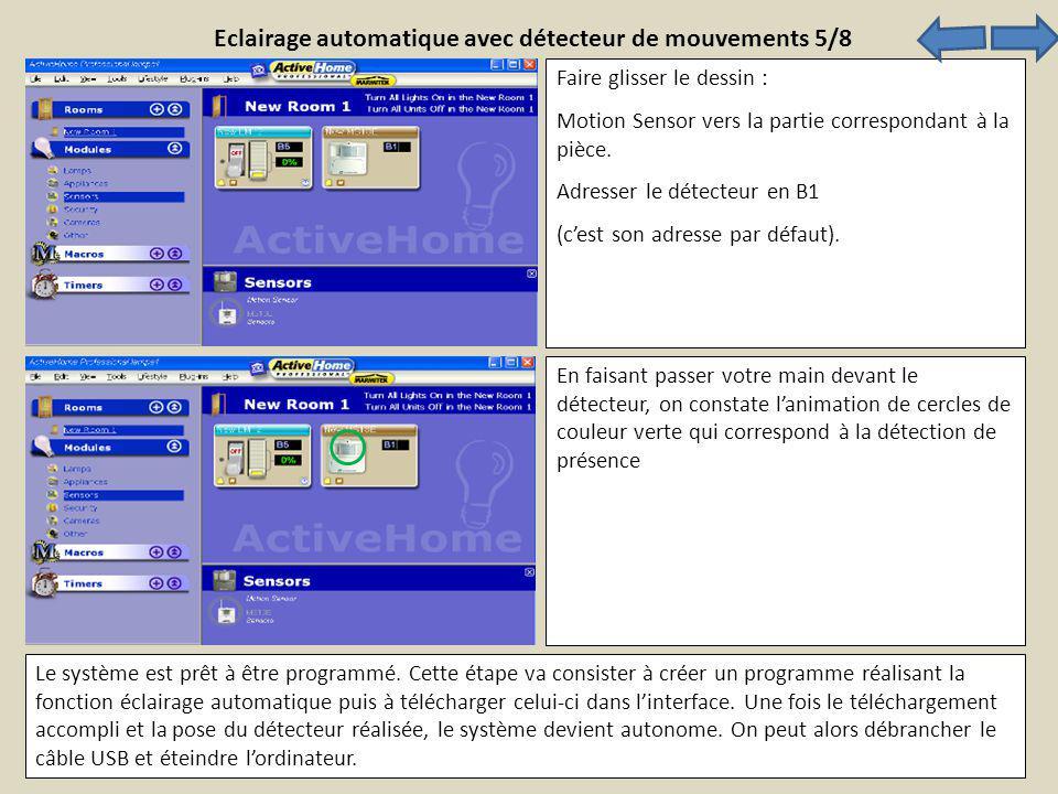 Eclairage automatique avec détecteur de mouvements 5/8